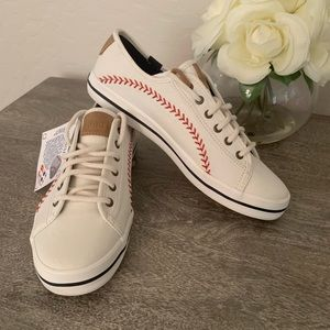 New NWT Keds MLB Baseball Stitch Sneakers wmn 6
